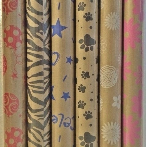 Printed Kraft Paper / Wrapping Paper, 30