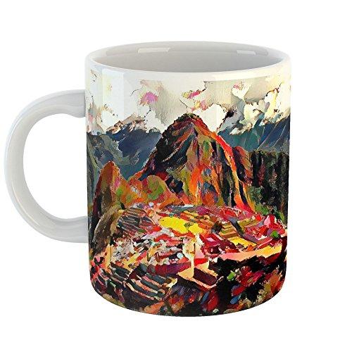Westlake Art - Coffee Cup Mug - Machu Picchu - Modern Abstract Artwork Home Travel Office Birthday Gift - 11oz ( fe619 - Village Stores Highland