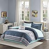 Intelligent Design Gemma Comforter Set Full Size Bed in A Bag - Teal, Medallion Paisley – 9 Piece Bed Sets – Ultra Soft Microfiber Teen Bedding for Girls Bedroom