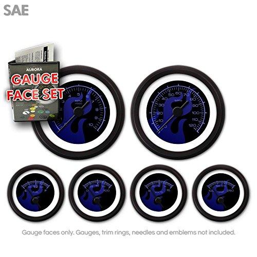 Aurora Instruments (GARFE83) Ghost Flame Black/Blue Gauge Face Set