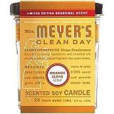 Mrs. Meyer's Soy Candle, Orange Clove, 4.9 Oz