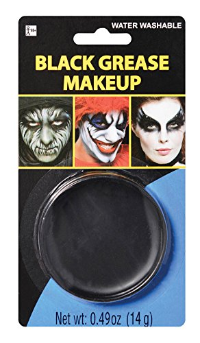 Party Ready Black Face Paint Style Grease Makeup Kit, 0.49 (Funny Halloween Face Paint)