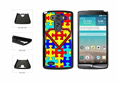 Autism Superhero Puzzle Pieces Plastic Phone Case Back Cover HTC One M7