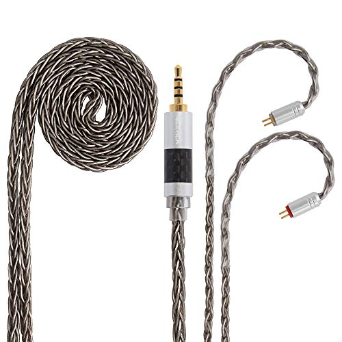 [해외]NICEHCK TDY5 8 코어 이어폰 케이블 OFC 순수한 구리 실버 도금 2Pin 2.5 mm 금속 커넥터 분리형 아주 연약한 업그레이드 케이블 4 극 1.2 m DIY 이어폰 액세서리 음질 향상 고급 교체 케이블 NICEHCK F3 SP12 FR12 NK10 HK8 HK6、TRN IM2 X6 V80 V3...