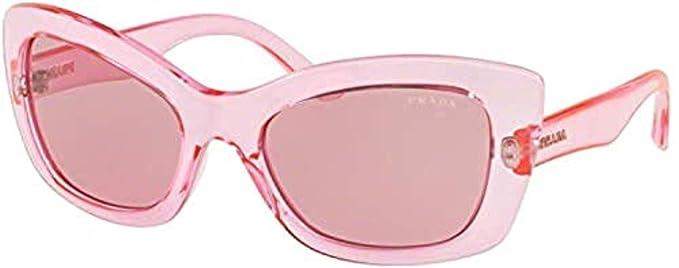 Amazon.com: Gafas de sol Prada PR 19 MS 339345 rosa: Prada ...