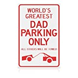 Sano Naturals Dad Gifts - World's Greatest Dad Parking Only - Gifts for Dad - Best Dad Gifts Keychain for Dad from Daughter and Son