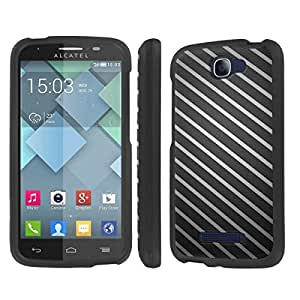 NakedShield Alcatel One Touch Fierce 2 7040T (Stripe Texture) Total Hard Armor LifeStyle Phone Case