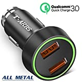tarbs Quick Charge 3.0 Dual USB Car Charger,39W Smart car Adapter Compatible with S9 / 8/7 / 6 / Edge/Plus, Note 9/8 /5/4 LG G6 G5 V10 V20 Nexus, HTC and More