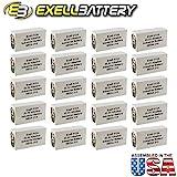 20pc Exell 412A Alkaline 22.5V Battery NEDA 215, 15F20, BLR122