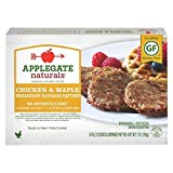 Applegate Naturals Breakfast Sausage Patties Chicken & Maple, 7 Ounce (Pack of 12)