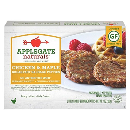 Applegate Naturals Breakfast Sausage Patties Chicken & Maple, 7 Ounce (Pack of 12) by Applegate