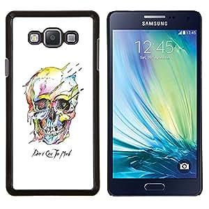EJOOY---Cubierta de la caja de protección para la piel dura ** Samsung Galaxy A7 A7000 ** --Cráneo colorido Muerte Blanca Arte Negro