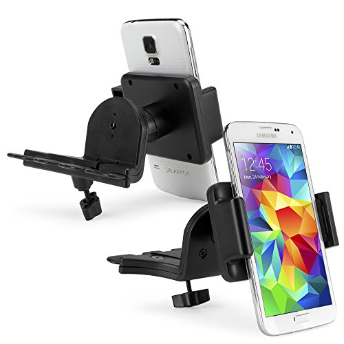 Price comparison product image BoxWave EZCD Mobile Gigabyte GSmart MW702 Car Mount - Universal Car CD Slot Mount Smartphone Cradle Fits All Major Smartphones - Galaxy s5 / s4, iPhone 5s/5, Note 4, Note 3, HTC One, Nexus and More!