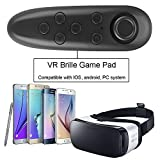 IVSO VR Remote Control - Gamepad Remote Controller for Samsung Gear VR, Phones, Tablets, PC-Easy Control for Selfie, Video, Music, Mouse, Ebook, Game and VR-10M Serviceable Rang (Black)