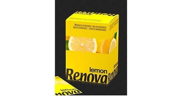 Renova - toallitas de limón olor - 20 toallitas (pack4) 80 toallitas: Amazon.es: Hogar