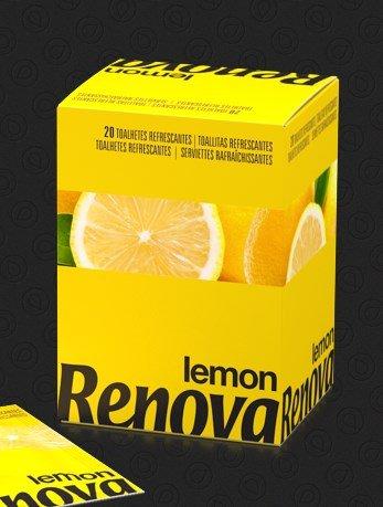 Renova - toallitas de limón olor - 20 toallitas (pack4) 80 toallitas
