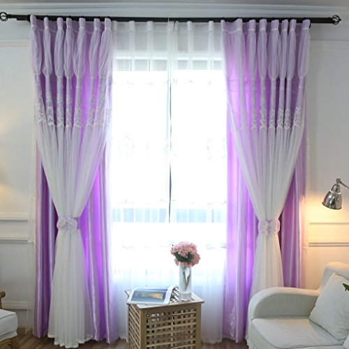 Queen's House Girls Blackout Curtains Panels for Bedroom (Set of 2)-52
