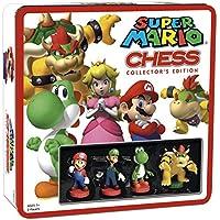 Juego de ajedrez Super Mario | 32 piezas de ajedrez personalizadas incluyendo personajes icónicos de Nintendo como Mario, Luigi, Peach, Toad, Bowser | Juego de ajedrez temático de Nintendo Mario Video Games