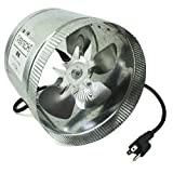 VenTech VT DF-8 DF8 Duct Fan, 420 CFM, 8
