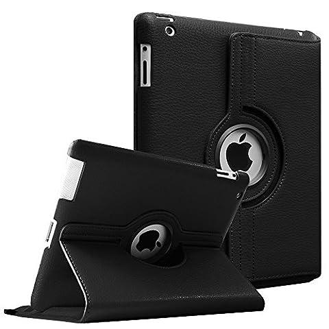 Fintie Apple iPad 2/3/4 Case - 360 Degree Rotating Stand Smart Case Cover for iPad with Retina Display (iPad 4th Generation), the new iPad 3 & iPad 2 (Automatic Wake/Sleep Feature) - (Ipad Generation Case)