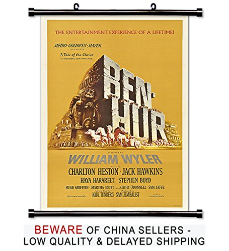 Ben Hur Movie Fabric Wall Scroll Poster (16x24) Inches