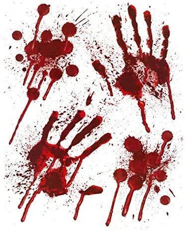HusDow Halloween Scary Decorations 1pcs Bloody Garland Tortune Weapons Banner,1pcs Bloody Print Halloween Tablecloth,and 10pcs Bloody Balloons 1pcs Waring Tape for Halloween Haunted House Decor