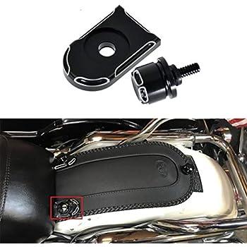 YHMTIVTU Black Aluminum Seat Bolt Screw Mount Knob Cover Kit for Harley Touring 1996-2016