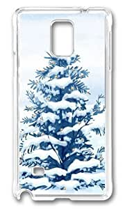 Adorable Christmas Snow Trees Hard Case Protective Shell Cell Phone Samsung Galaxy Note3 - PC Transparent Kimberly Kurzendoerfer