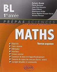 Maths BL 1ère Année Nouveau Programme 2013