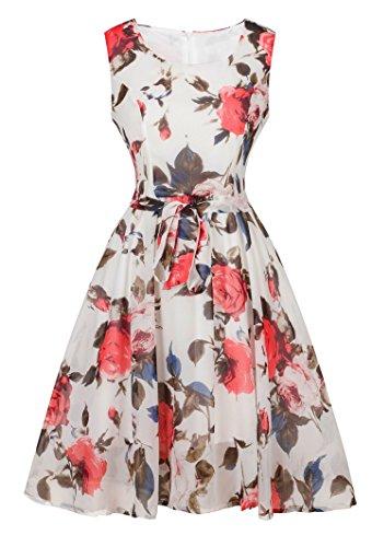 Angerella Women's Retro Vintage Dresses Wedding Evening Party Dress
