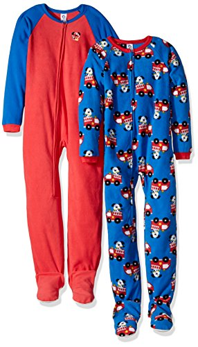 Gerber Toddler Boys Boy 2 Pack Blanket Sleeper, Firedog, 3T