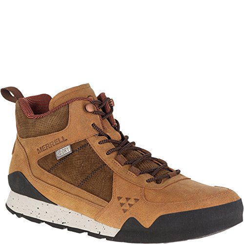 Merrell Mens Burnt Rock Mid Waterproof Fashion Sneaker