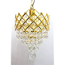 ArihantSuperStore Beautiful Imported Round Crystal Chandelier Jhoomer Ceiling Hanging Lamp for Beautiful Home & Office…