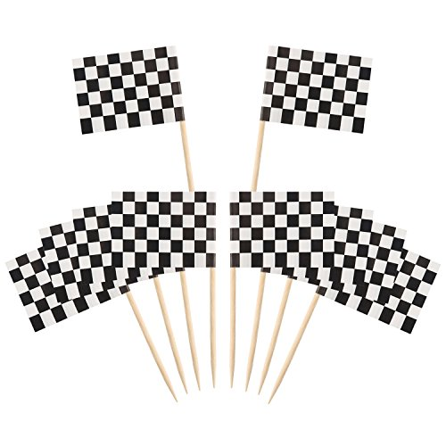 Pangda Checkered Cupcake Toothpick Decorations product image