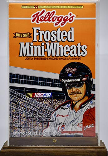 (1996 - NASCAR/Sam Bass - Special Frosted Mini-Wheats Box by Kellogg's - In Display Case - Rare - Mint)