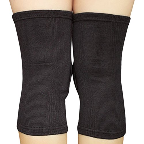 GRANDCOW Knee Pad Protection Compression Sleeves Extra Thick Knee Pads for Sports (Black)