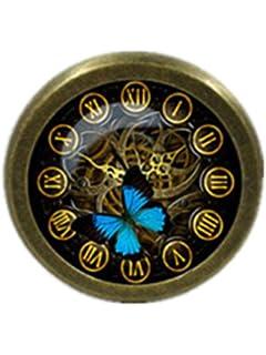 STEAMPUNK Clock   Drawer Knobs Pulls Handles / Kitchen Cabinet Knobs Handle  Pull / Antique Brass