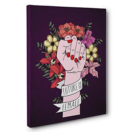 Future Is Female Motivational Canvas Wall Art by Paper Blast