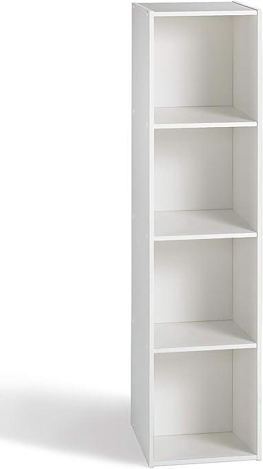 Alsapan 94931 Compo 14 - Estantería con 4 estantes, color blanco, 31.1 x 29,5 x 123 cm