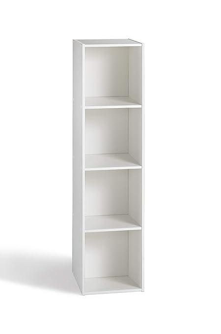 Meuble De Rangement 5 Cases.Compo Meuble De Rangement Colonne 4 Casiers Bibliotheque Etageres Cubes Blanc 31 X 29 5 X 123 Cm