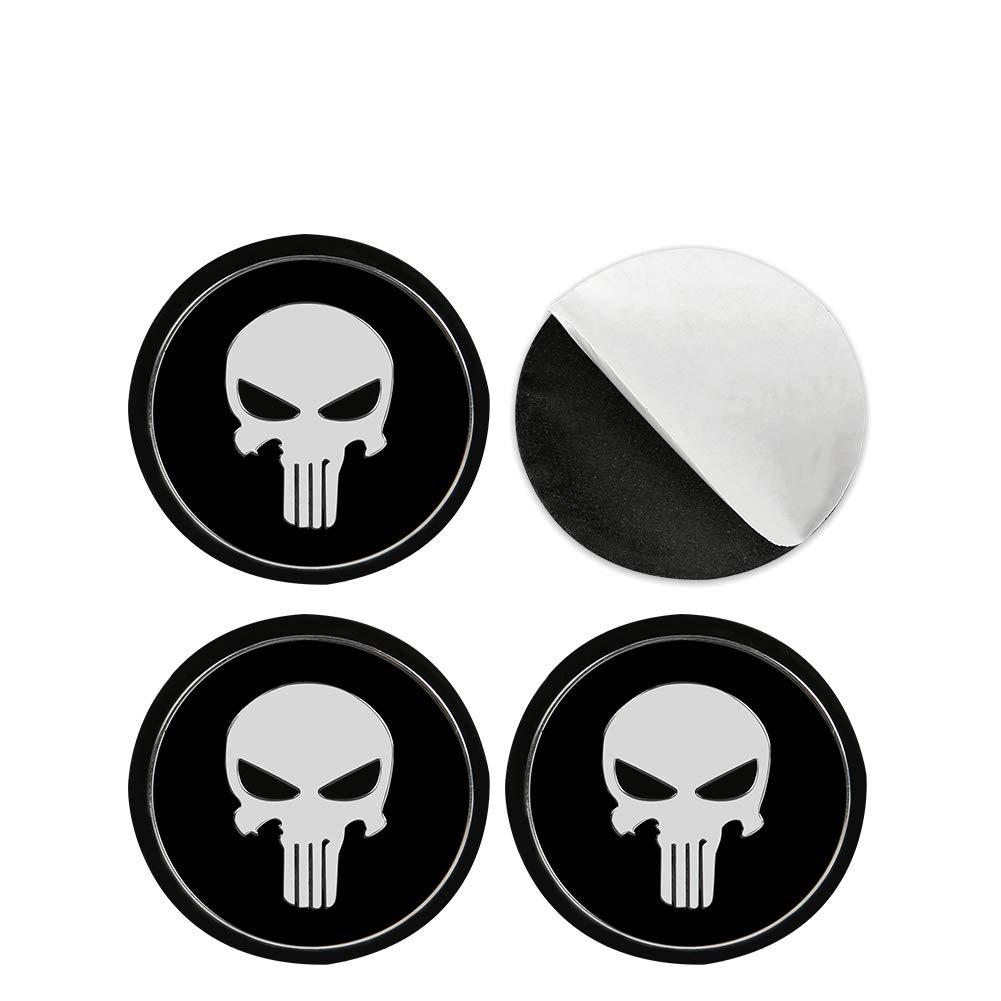 3D Metal Punisher Sticker Emblem Custom Decal Auto Badge SILVER COLOR 2 PACK