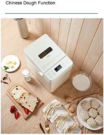 NAFE Machine à Pain entièrement Automatique, Machine à Pain à pétrir compacte entièrement Automatique, Machine à Pain Rapide avec Distributeur de Noix, 28 menus, Rendez-Vous