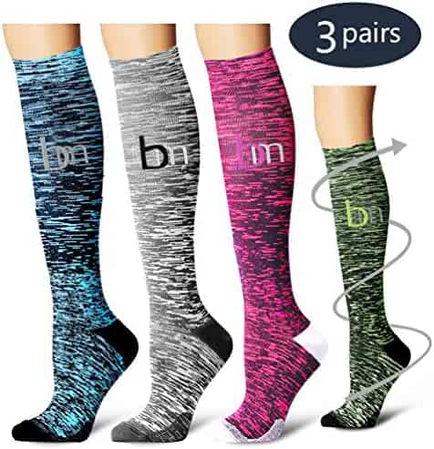 0309d83a2dacb Laite Hebe Compression Socks,(3 Pairs) Compression Sock Women & Men - Best