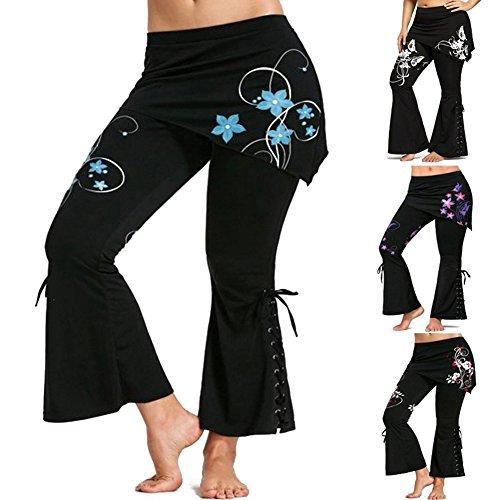 M Retro Fasciatura Stampato Ufficio 4 Moda Alta Casuale Vita Pantaloni Abbigliamento Legging Floreale Minigonne 5xl Gotico Colore Donna Con qwxOZ7