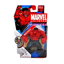 Marvel Hasbro Universe Year 2008 Series 1 Single Pack 4-1/2 Inch Tall Action Figure #28 - Red Hulk With S.H.I.E.L.D File Secret Code