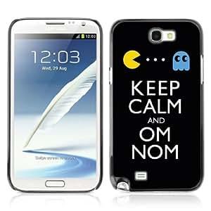 Designer Depo Hard Protection Case for Samsung Galaxy Note 2 N7100 / Keep Calm & Om Nom