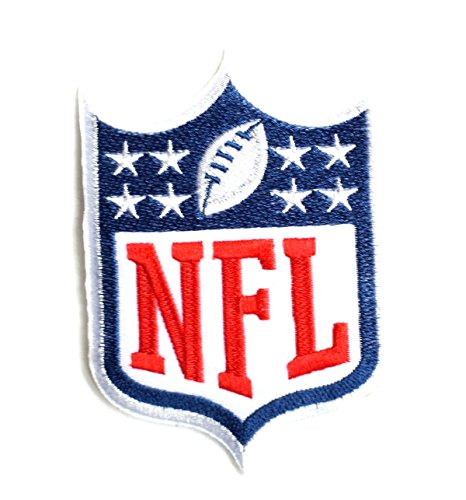 NFL Football Logo Fully Embroidered Iron On Patch 4.5