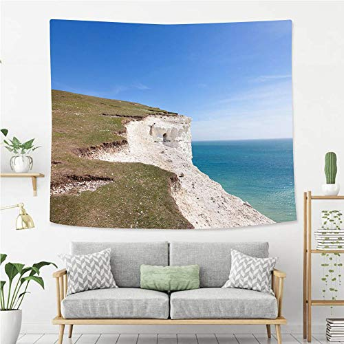 BEIVIVI Wall Tapestry Wall Hanging Seven Sisters National Park East Sussex England Tapestry, Living Room Bedroom Decoration Tapestry, Mattress, Tablecloth