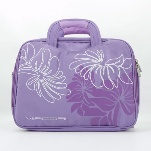 Fujitsu LIFEBOOK E546, E746 Laptop Messenger Shoulder Bag Briefcase (Lavender Floral)