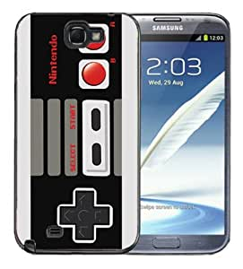 Samsung Galaxy Note 2 Black Rubber Silicone Case - Super Nintendo Controller NES Retro Old School by lolosakes
